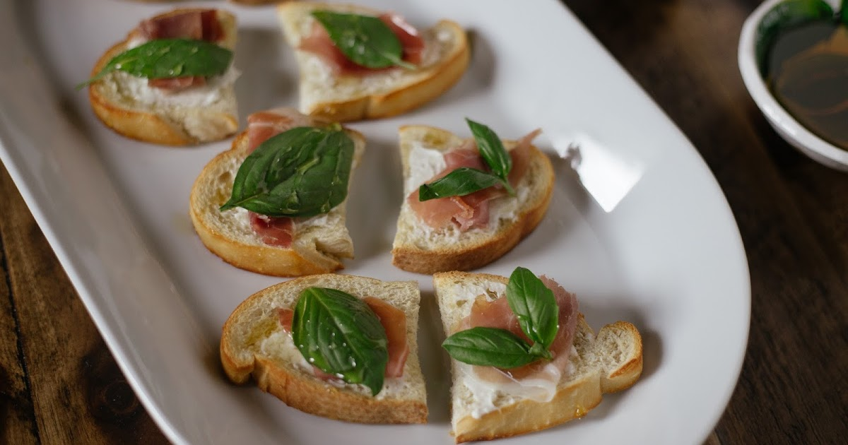 Prosciutto, Basil and Honey Crostini   She Learns Things