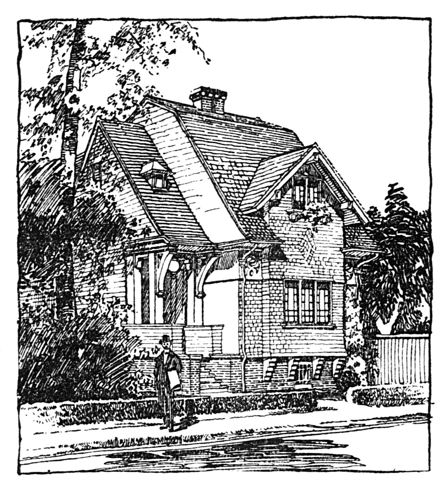 I Love Cottages So As Soon Saw This Illustration Immediately Wanted To Make It Available Here On Blog Comes From A Newspaper Published In
