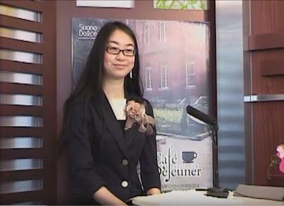 Linuxを使う女性。LPICレベル1を取得した赤坂恵里華さん。