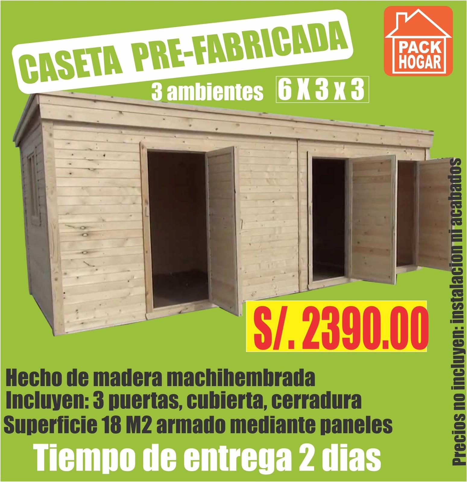 Catalogo de precios casetas m dulos prefabricadas - Casetas prefabricadas para jardin ...