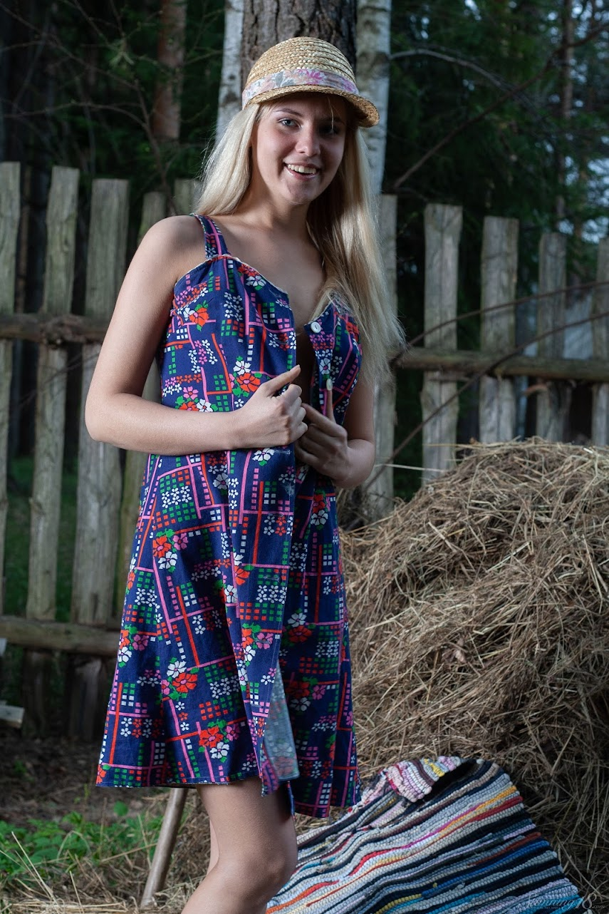 8286484704 [Stunning18] Agnes H - Nude On A Haystack