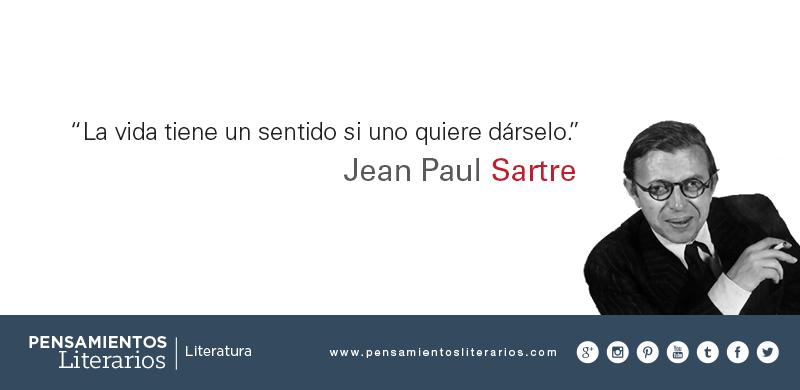 Pensamientos Literarios Jean Paul Sartre Sobre La