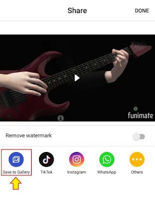 Cara Menyimpan Video Funimate ke Galeri - 4