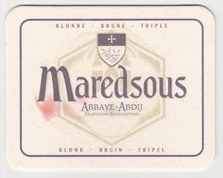 Le dessous de verre de la bière belge Maredsous