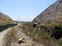 Heading south on Fish Canyon access trail through Vulcan Materials' Azusa Rock quarry