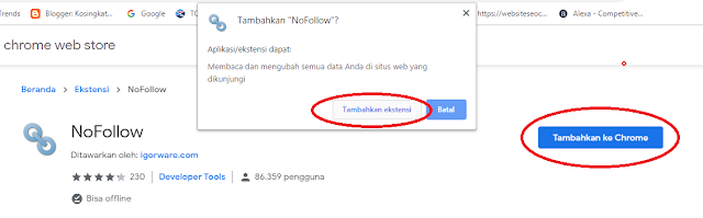 Cara memeriksa Link DoFollow atau NoFollow di Blog