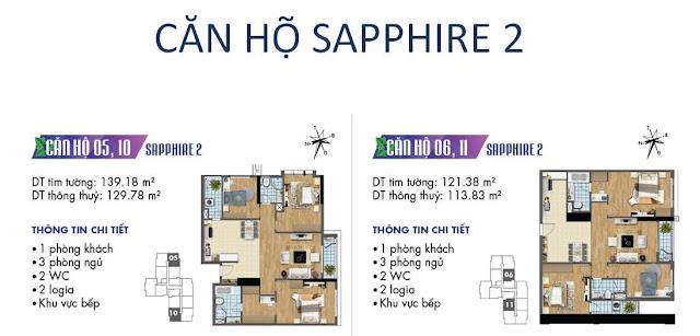 Căn hộ số 05, 06, 10, 11 tòa Sapphire 2- Goldmark City