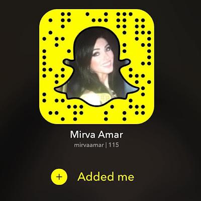 """snapchat """"name"""": Mirva amar"""
