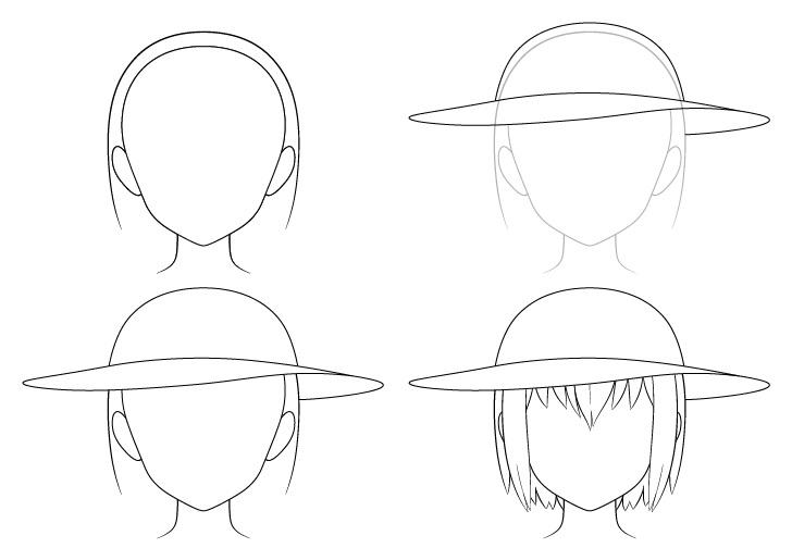 Gambar topi matahari anime selangkah demi selangkah