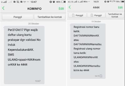 reg ulang kartu sim format dari kominfo