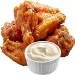 chicken wings fast food in spanish