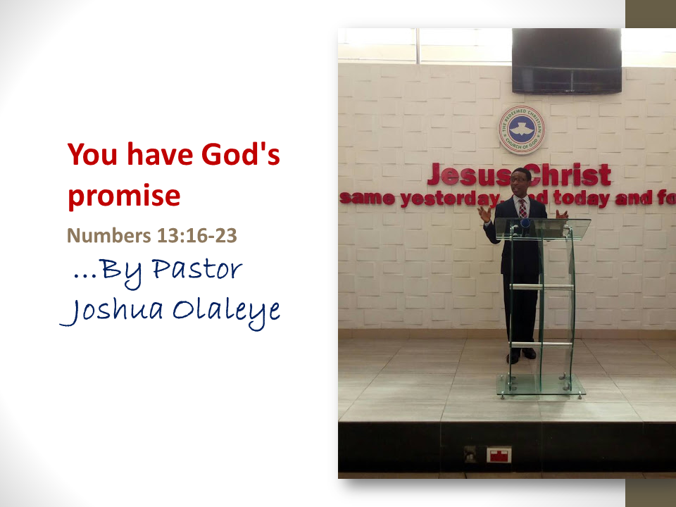 You have God's promise by Pastor Joshua - RCCG Strongtower