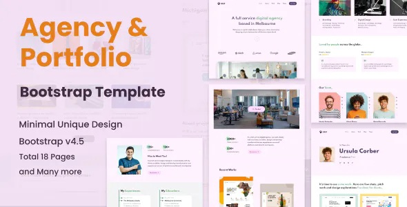 Best Agency & Portfolio HTML Template
