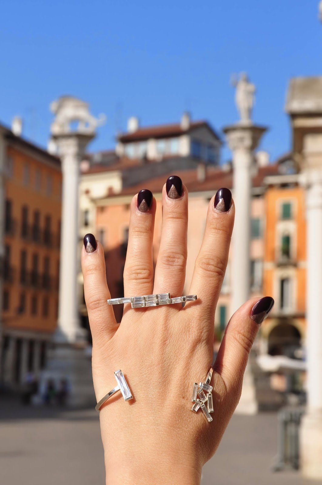 The rings of Antoaneta Ivanova of Antoanetta Fine Jewellery at Piazza dei Signori in Vicenza, Italy