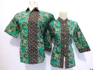 Desain Baju Batik Couple Pria dan Wanita