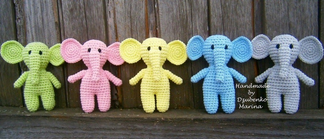 Crochet elephants amigurumi
