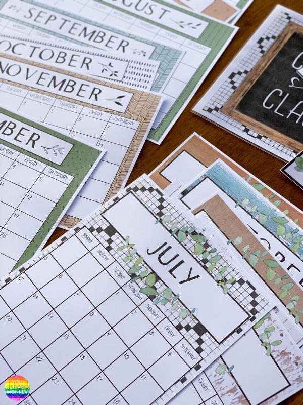 MODERN FARMHOUSE Simple Calendar | you clever monkey