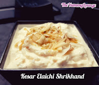 Here is popular Indian Yogurt Dessert Kesar Elaichi Shrikhand Recipe.