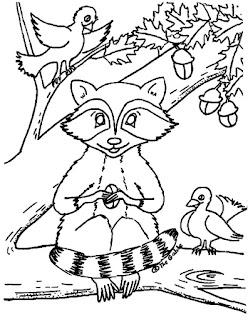 דפי צביעה רקונים על ענף