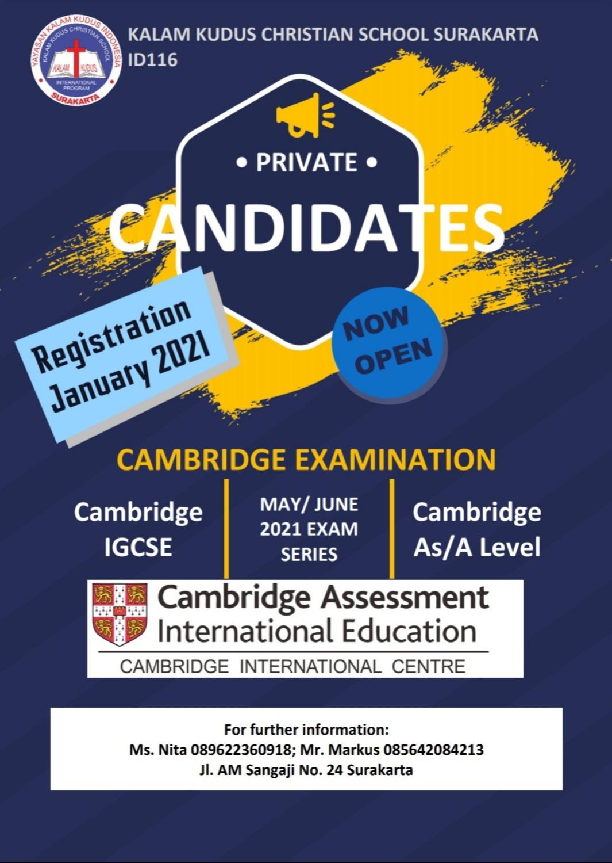 Private - Cambidge Examination