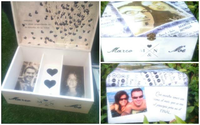 caja para guardar deseos para novios personalizada