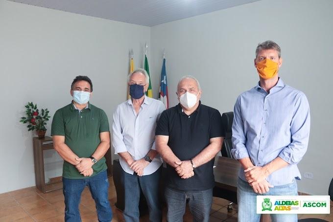 ALDEIAS ALTAS - Prefeito Kedson Lima se reúne com empresários do Grupo Costa Pinto