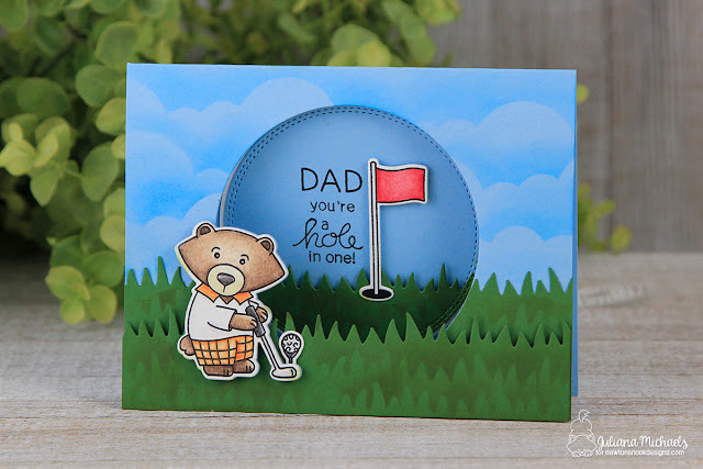 Dad You're A Hole In One Golf Father's Day Card by Juliana Michaels featuring Newton's Nook Designs Winston's Tee Time