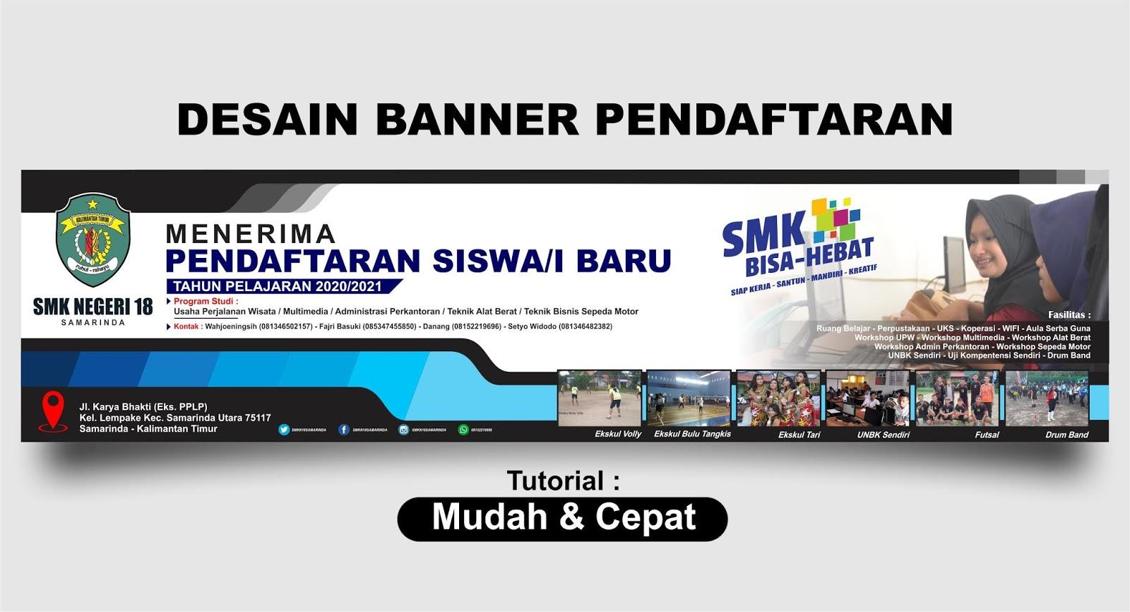 Contoh Banner Ppdb Sma Terbaru - desain spanduk keren