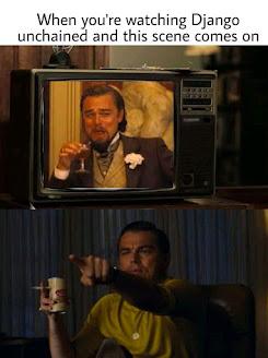 Leonardo DiCaprio meme X Django Unchained