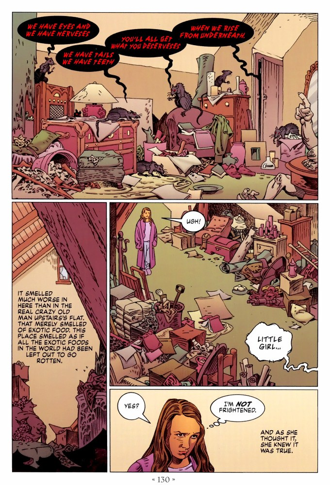Read page 130, from Nail Gaiman and P. Craig Russell's Coraline graphic novel