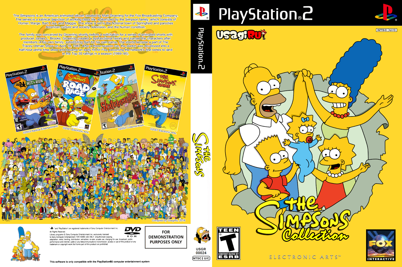 the simpsons collection no playstation 2 blog do ruivo. Black Bedroom Furniture Sets. Home Design Ideas