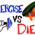 Exercise vs diet for weight loss