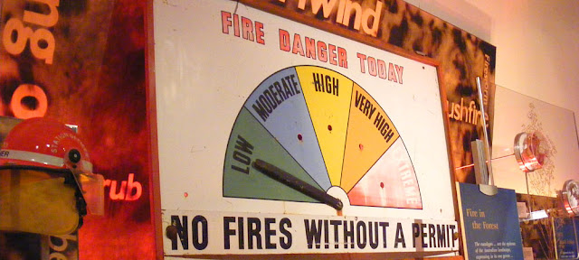 Fire danger chart, National Museum of Australia, Canberra. Photographed by Susan Walter. Tour the Loire Valley with a classic car and a private guide.