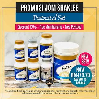 Promosi Jom Shaklee - Set Bersalin Shaklee
