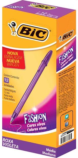 Caixa de caneta roxa