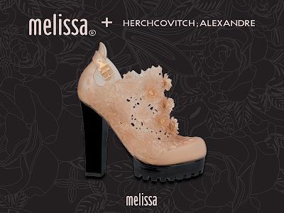 Melissa - Alexandre Herchovitch botas de plástico com flores