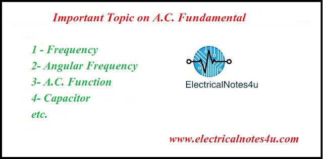 Important Topic on A.C. Fundamentals
