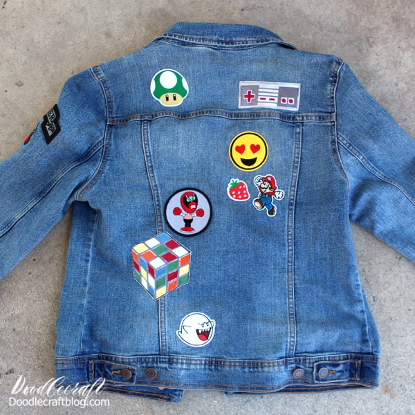 Fill the back of the jacket with your favorite patches!