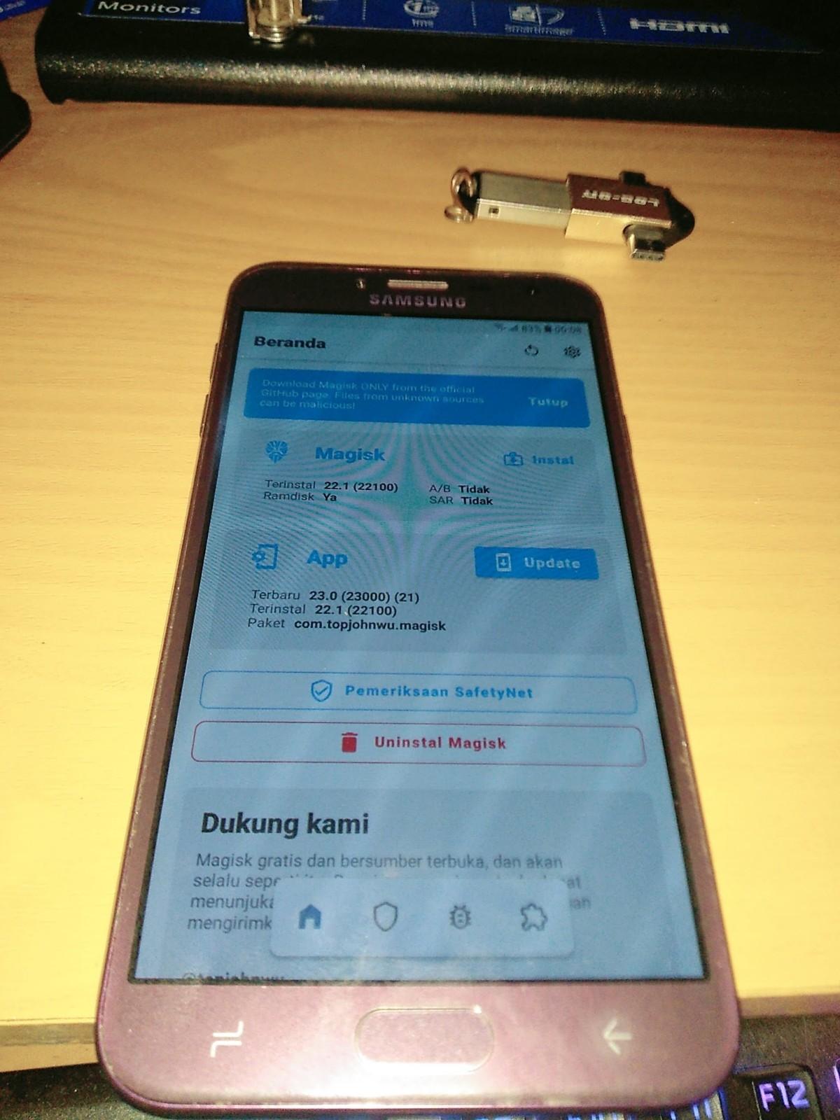 Cara Mudah Root Samsung J4 SM-J400G Magisk