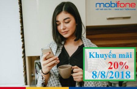 MobiFone khuyến mãi ngày 8/8/2018