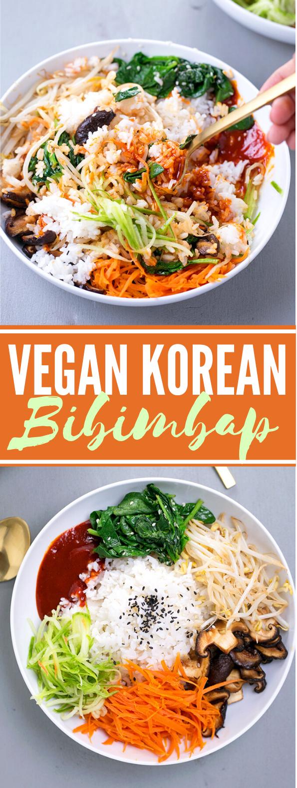 VEGAN KOREAN BIBIMBAP #vegetables #healthy #koreanrecipe #vegan #lunch