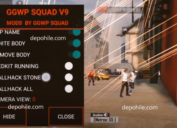 Free Fire 1.64 GGWP Squad Menu ESP, Aimbot Hile Ağustos 2021