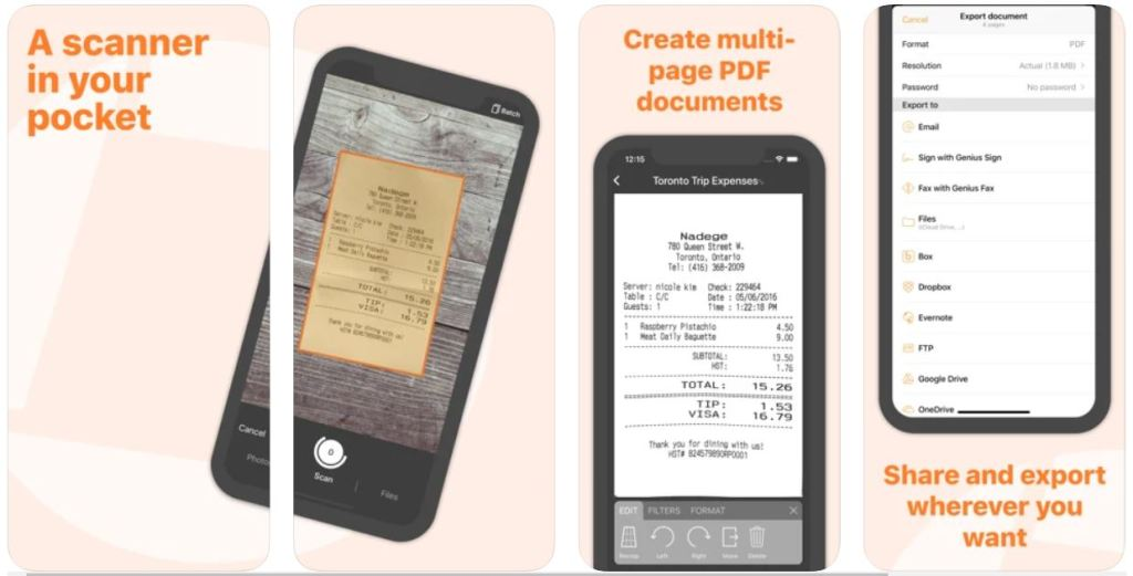 Genius Scan+ – Best iPhone Scanner App