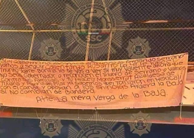 Amenazan en Narcomanta a Gobernador Jaime Bonilla, ya te vas! a ver si muy valiente ahora que no seas Gobernador lo acusan de estar con Los Chinolas