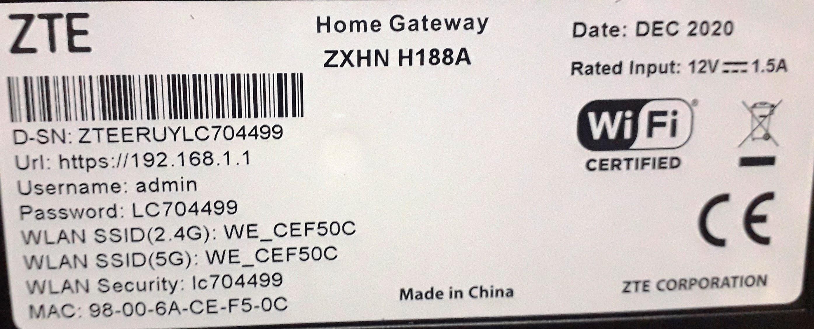 استخدام راوتر (وي) we الجديد الاسود موديل zxhn h188a كا اكسز بوينت, access point.