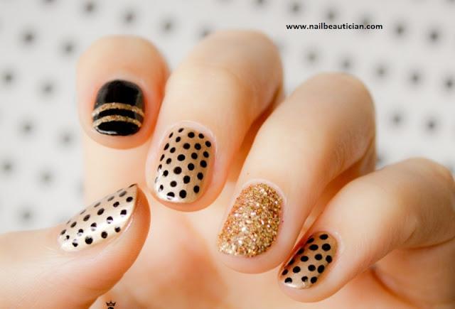 classy yet simple nail art
