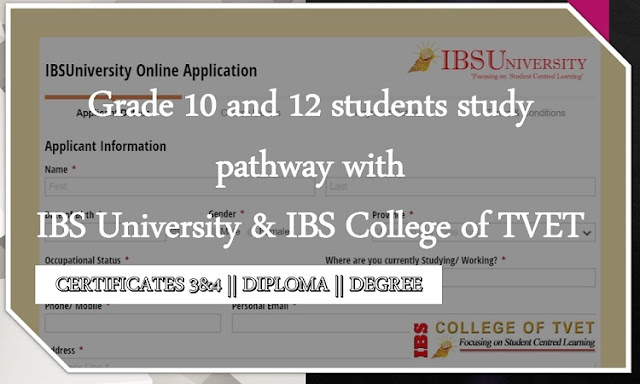 IBS University Application and course information