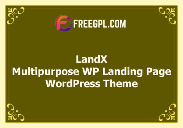 LandX - Multipurpose WordPress Landing Page Theme Free Download