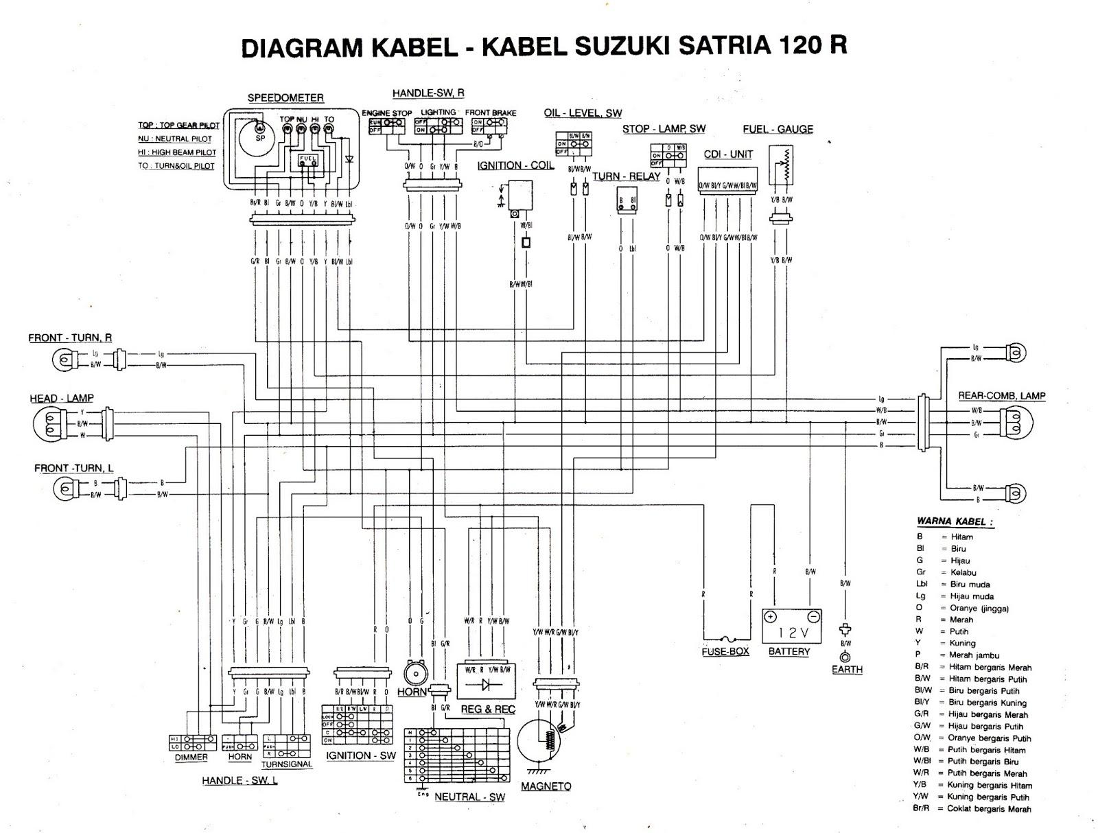 BLESS FOR MY THIRTEEN: Skema Kelistrikan Suzuki Satria 120 S ... on