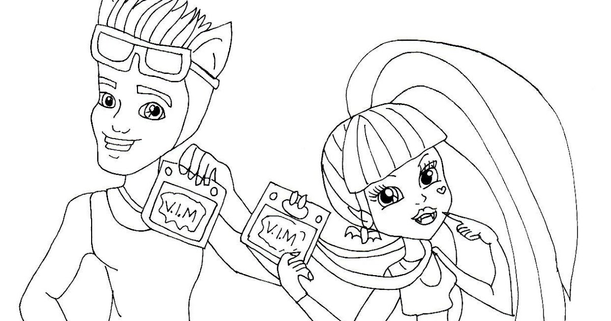 Free Printable Monster High Coloring Pages: Draculaura and